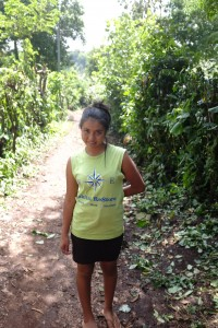 Met this nice young lady as we walked to another site, she told us in spanish, we are happy you are here to help, Gracias!