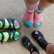 image of feet with crazy socks
